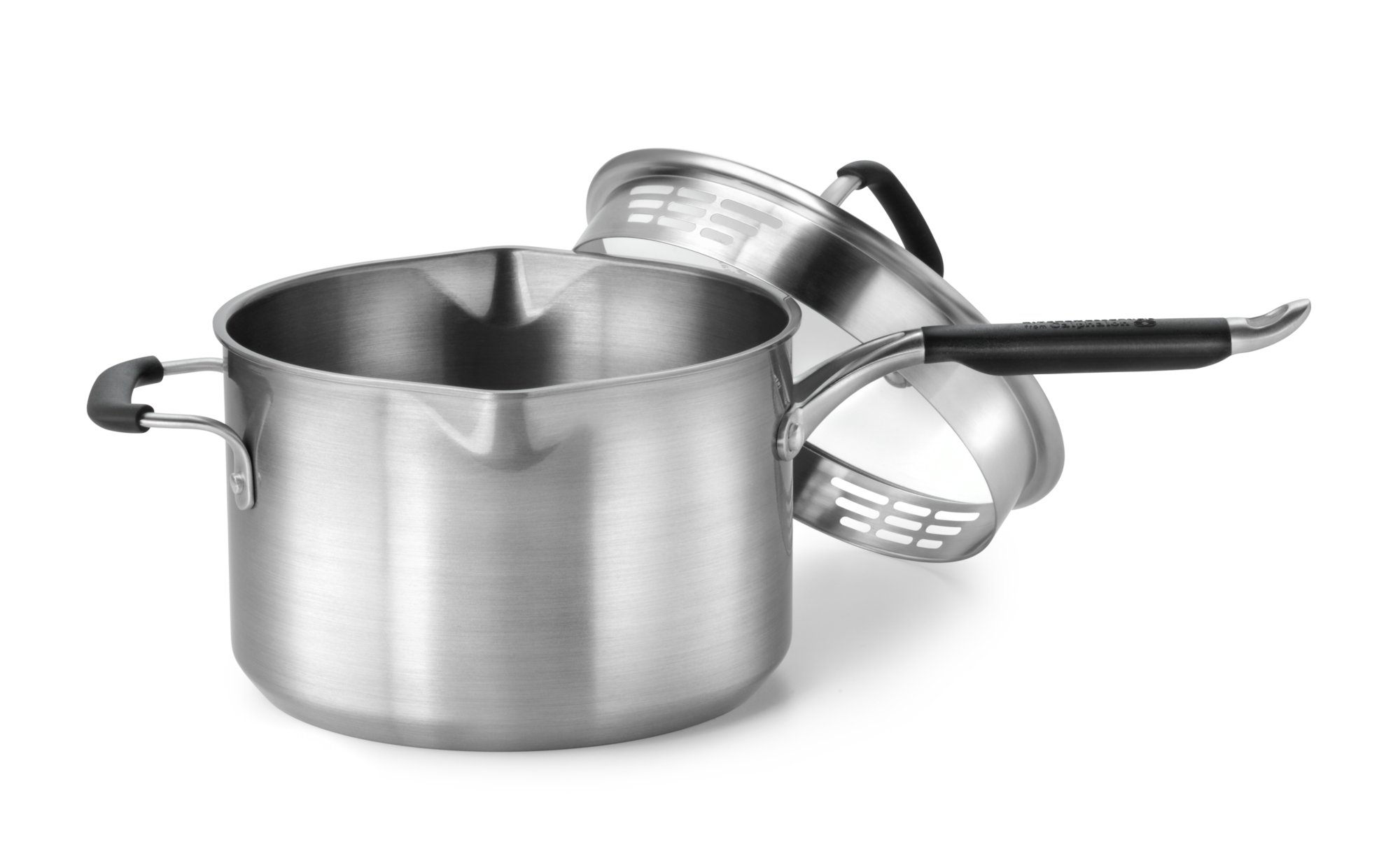 Calphalon Kitchen Essentials Stainless Steel 4-qt. Sauce Pan with ...