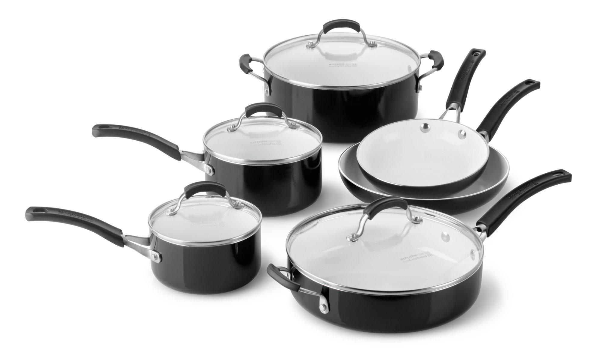 Calphalon Kitchen Essentials Ceramic Nonstick 10-pc. Cookware Set ...
