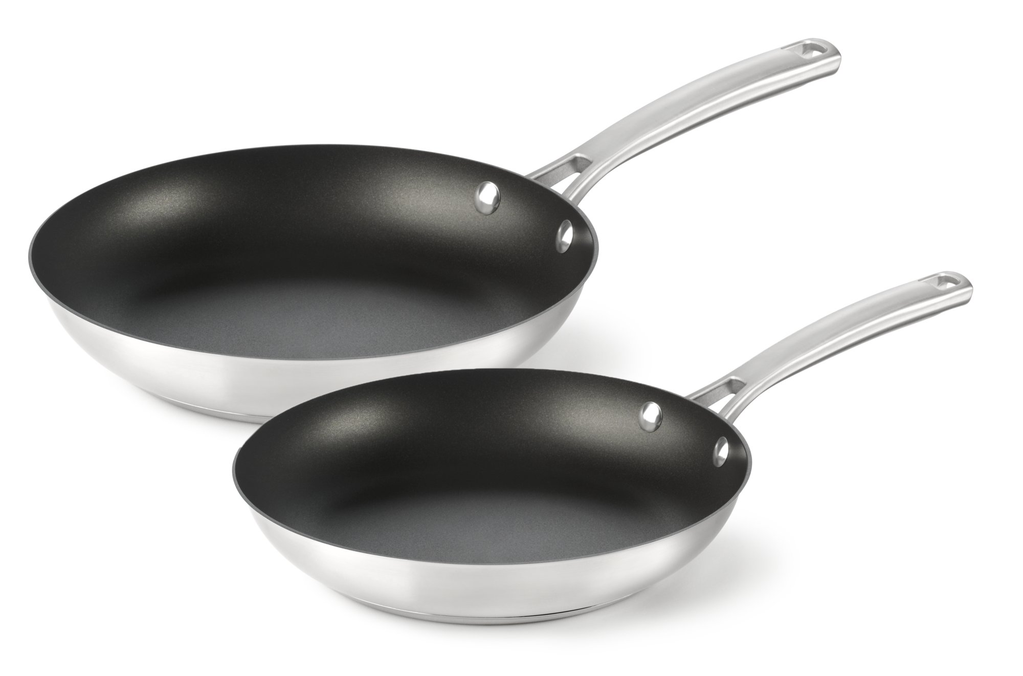 Calphalon Kitchen Essentials Stainless Steel 8-in. and 10-in ...