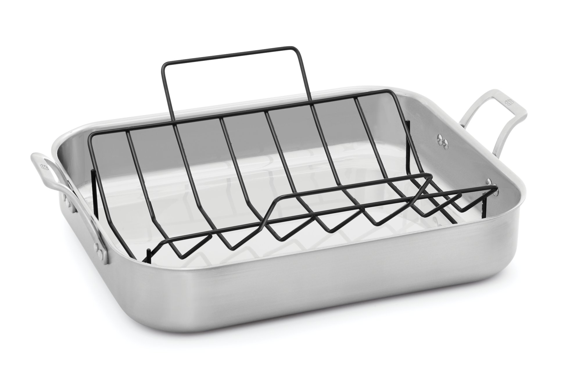 roaster calphalon rack warehouse stainless anodized roasting lid contemporary pan with