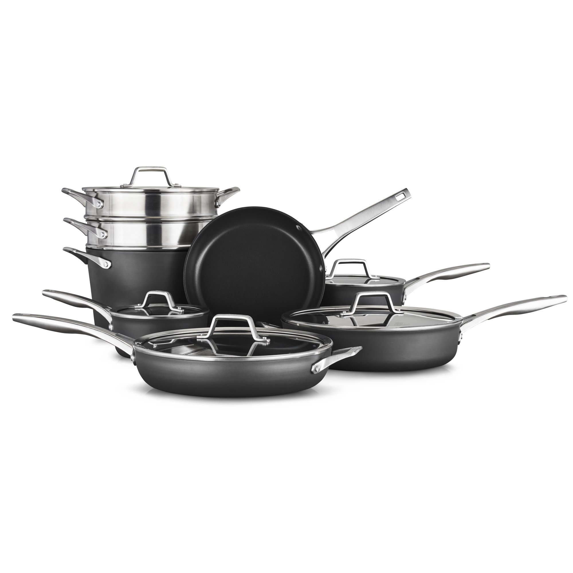 Calphalon Premier Hard-Anodized Nonstick Cookware 13-Piece Cookware Set
