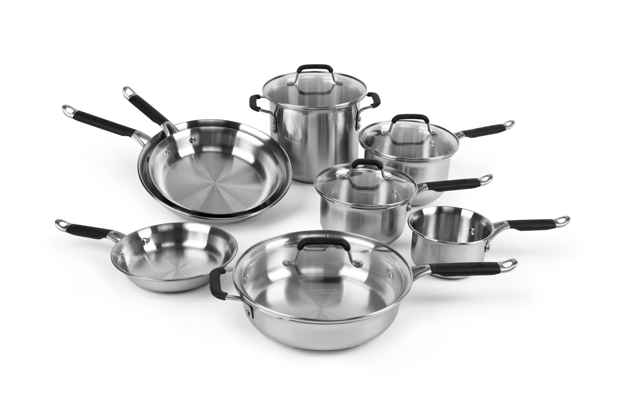 Calphalon Kitchen Essentials Stainless Steel 12-pc. Cookware Set ...