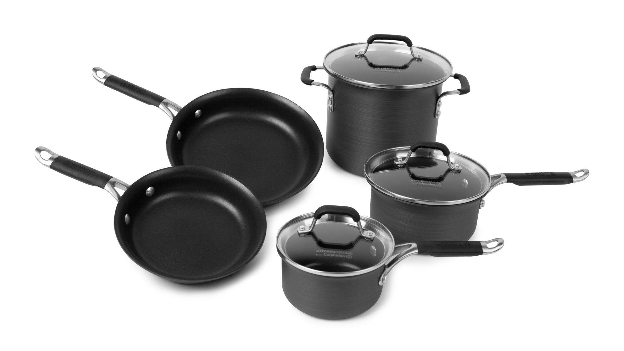 calphalon kitchen essentials nonstick 8-pc. cookware set