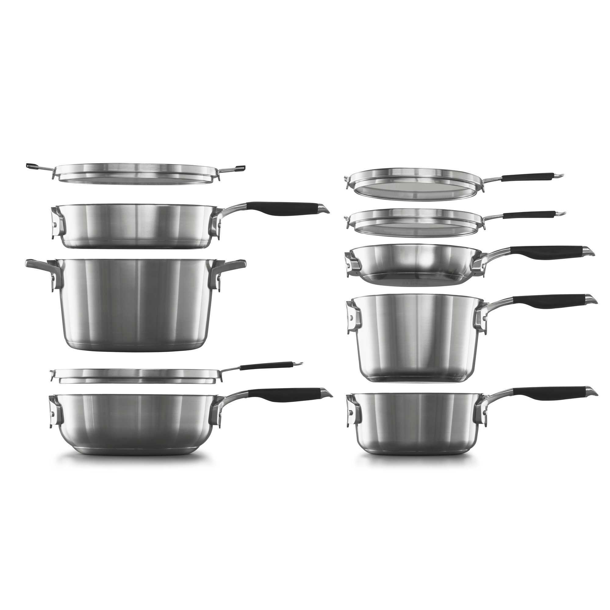 Select By Calphalon? Space Saving 10-Piece Stainless Steel Cookware Set