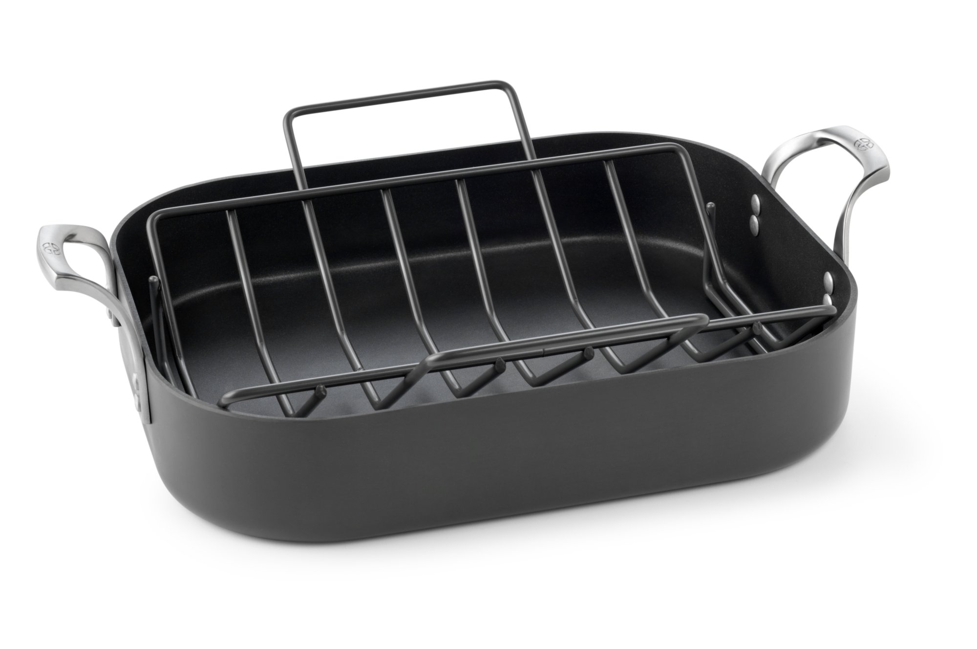 cookware qvc rack n pan contemporary calphalon slimline roaster com food cook stainless kitchen pans essentials c with roasting s