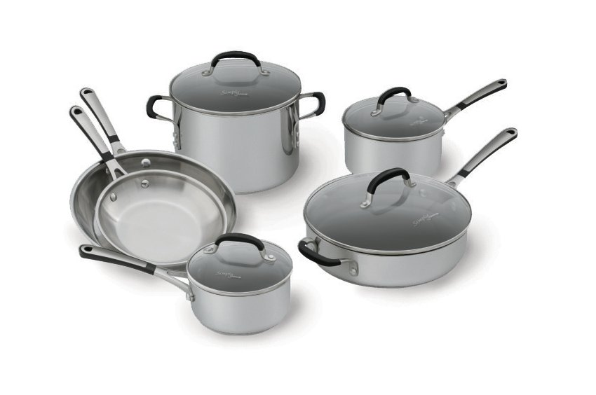 Simply Calphalon Stainless Steel 10-pc. Cookware Set