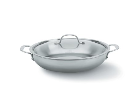 Calphalon Tri-Ply Stainless Steel 12-in. Everyday Pan with Cover