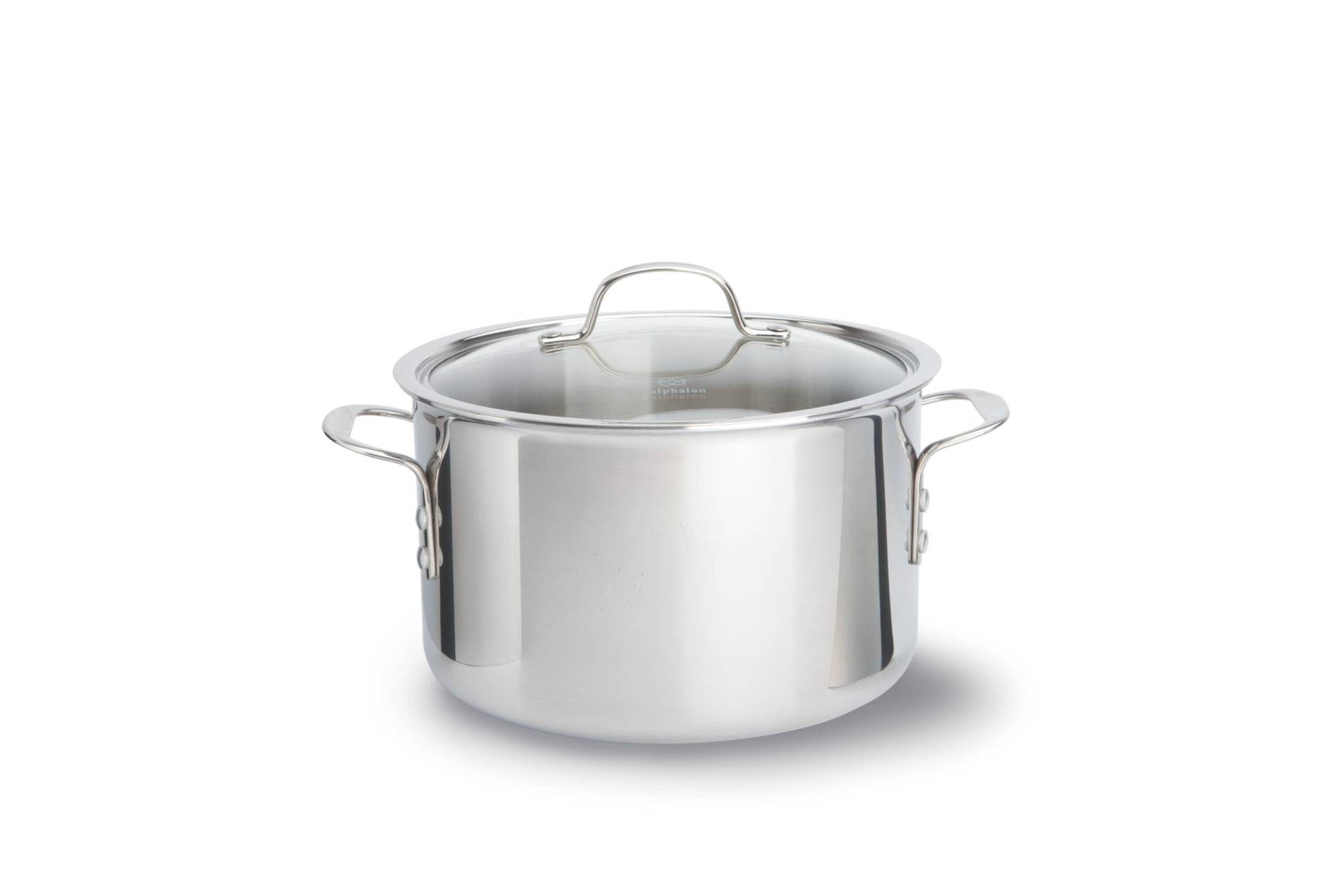 Calphalon Tri Ply Stainless Steel 8 Qt Stock Pot With Cover