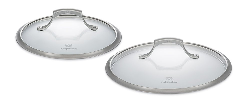 Calphalon Unison Nonstick 8-in. and 10-in. Glass Cover Lid Set