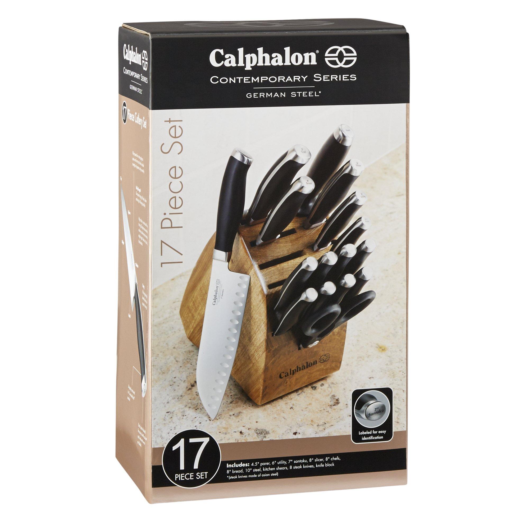 calphalon contemporary cutlery 17 pc set calphalonusastore