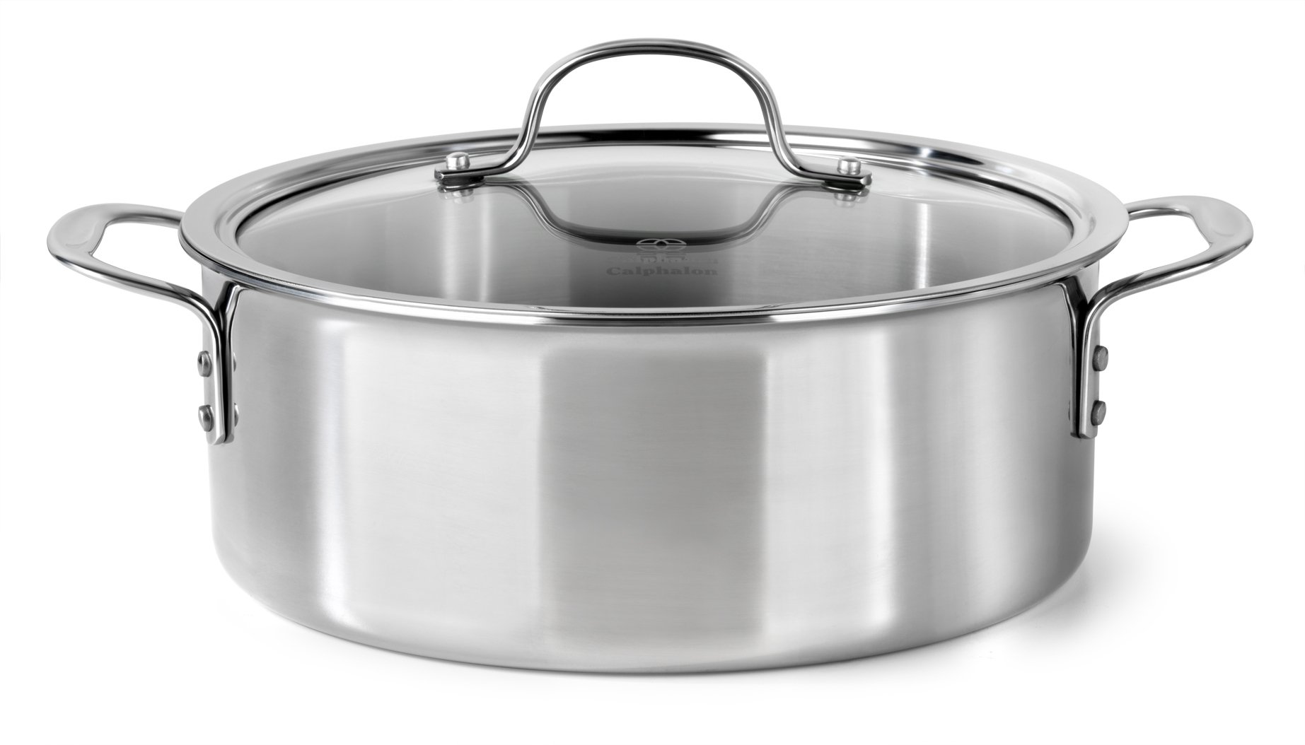 Calphalon Tri Ply Stainless Steel 5 Qt Dutch Oven With Cover