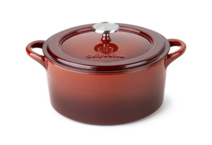 Simply Calphalon Enamel Cast Iron Red 5-qt. Dutch Oven with Cover