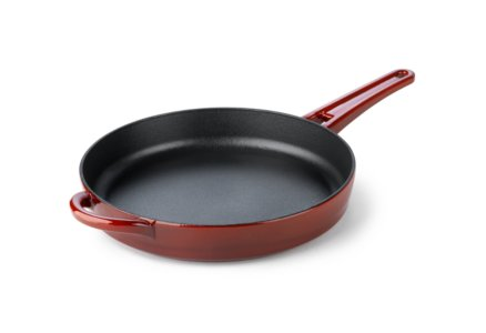 Simply Calphalon Enamel Cast Iron Red 10-in. Skillet