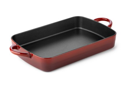 Simply Calphalon Enamel Cast Iron Red 9-in. x 13-in. Rectangular Baker