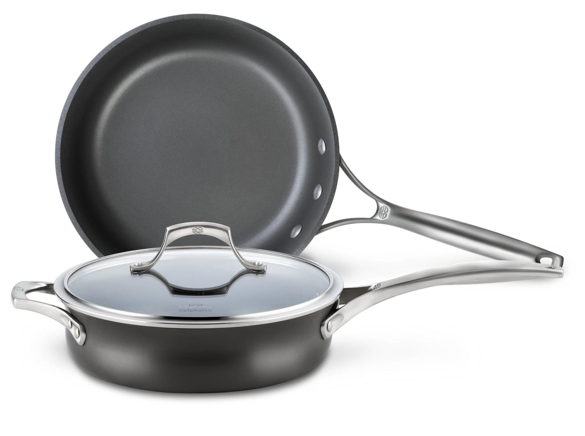 Calphalon Unison 3-pc. Set with Slide and Sear Nonstick