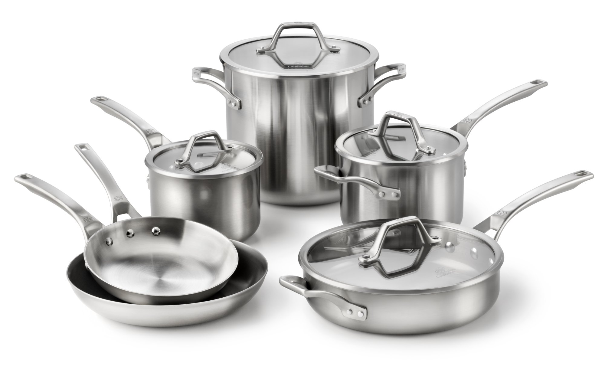 Calphalon AccuCore Stainless Steel 10-pc. Set