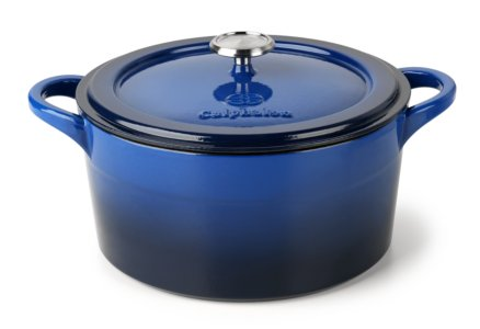 Simply Calphalon Enamel Cast Iron Blue 7-qt. Dutch Oven with Cover