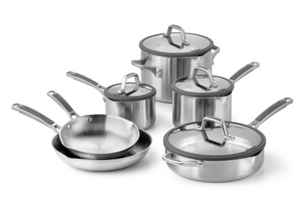 Simply Calphalon Easy System Stainless Steel 10-pc. Cookware Set