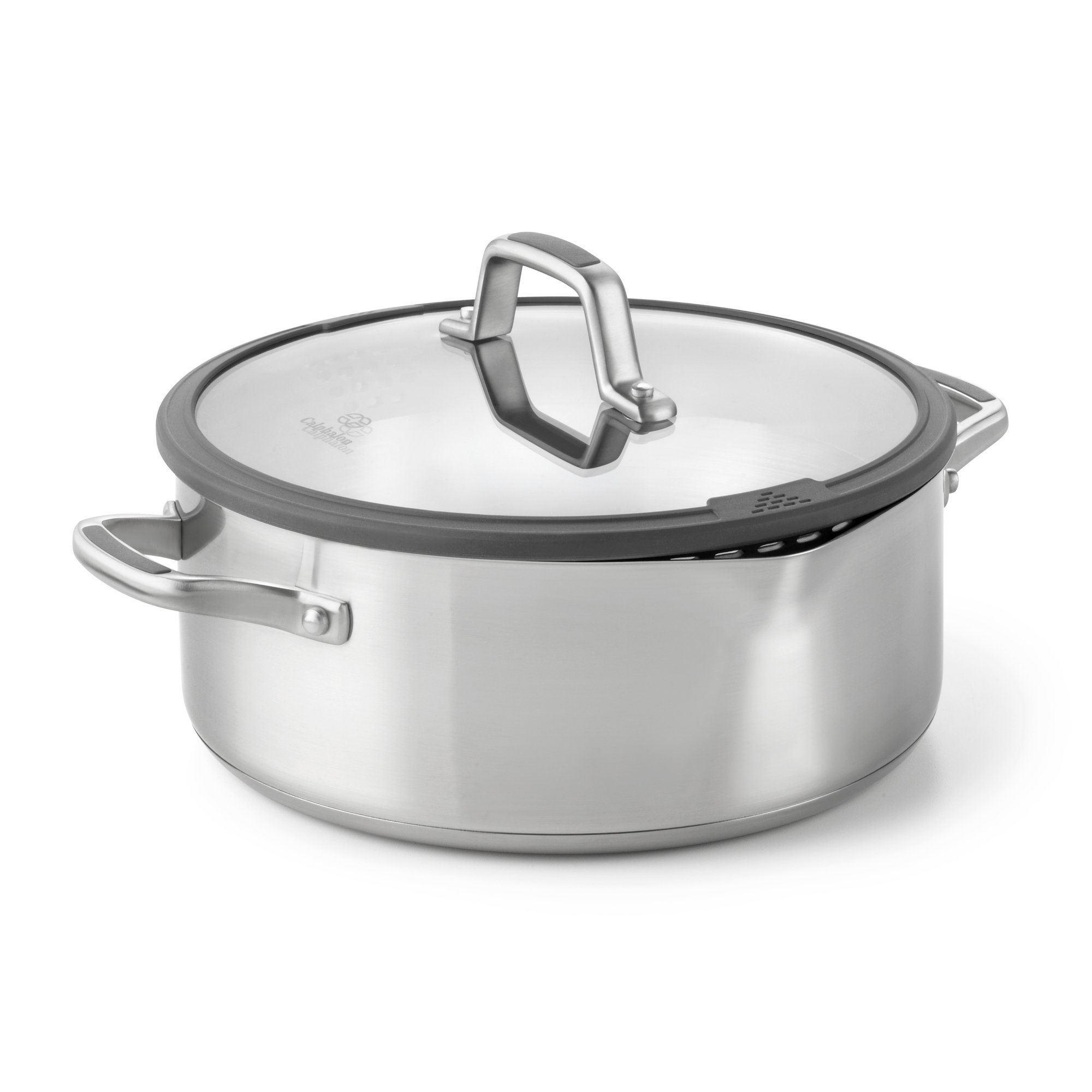Calphalon Simply Easy System Stainless Steel 5-Quart Dutch Oven and Cover
