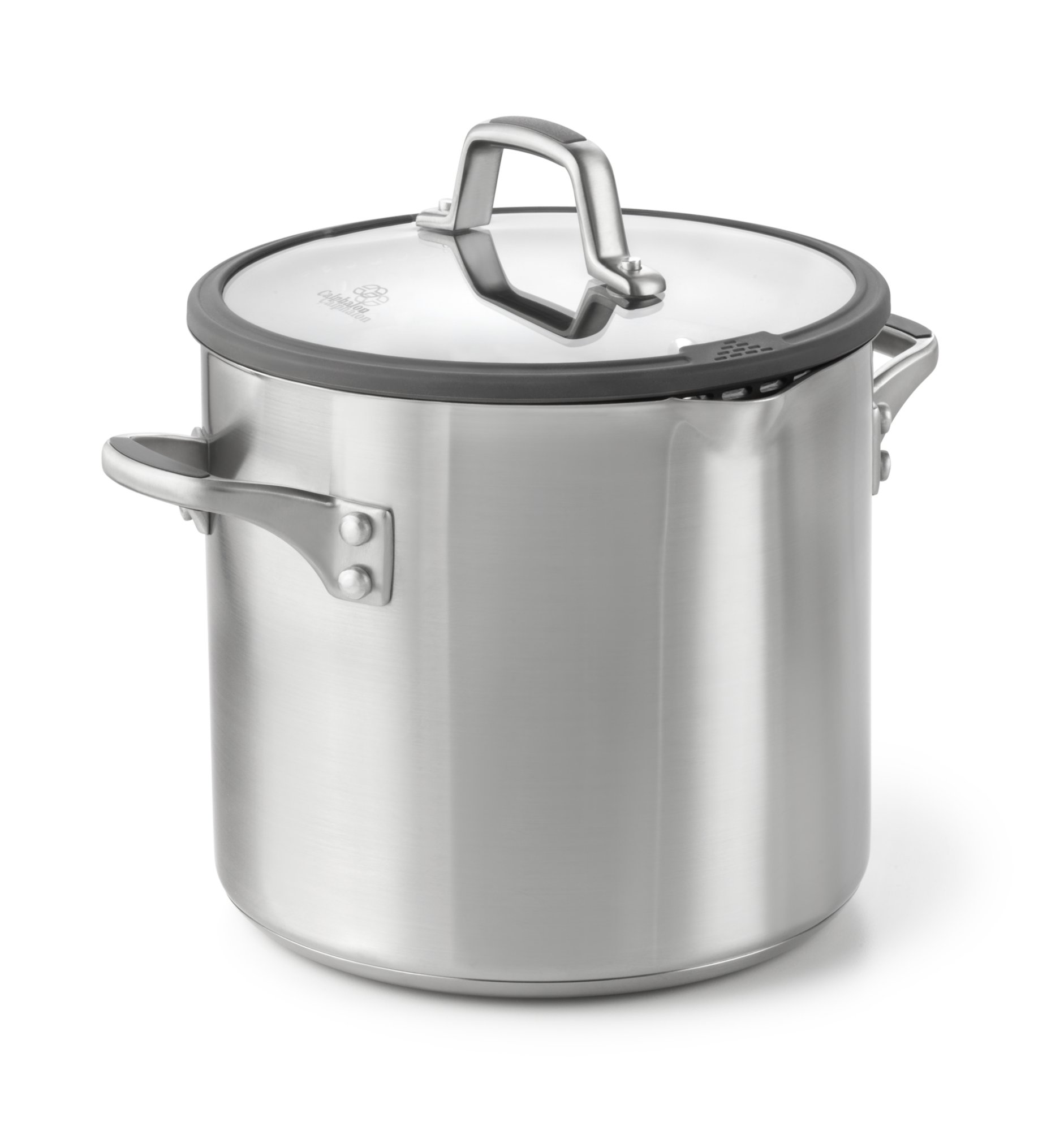 Simply Calphalon Easy System Stainless Steel 8-qt. Stock Pot with Cover