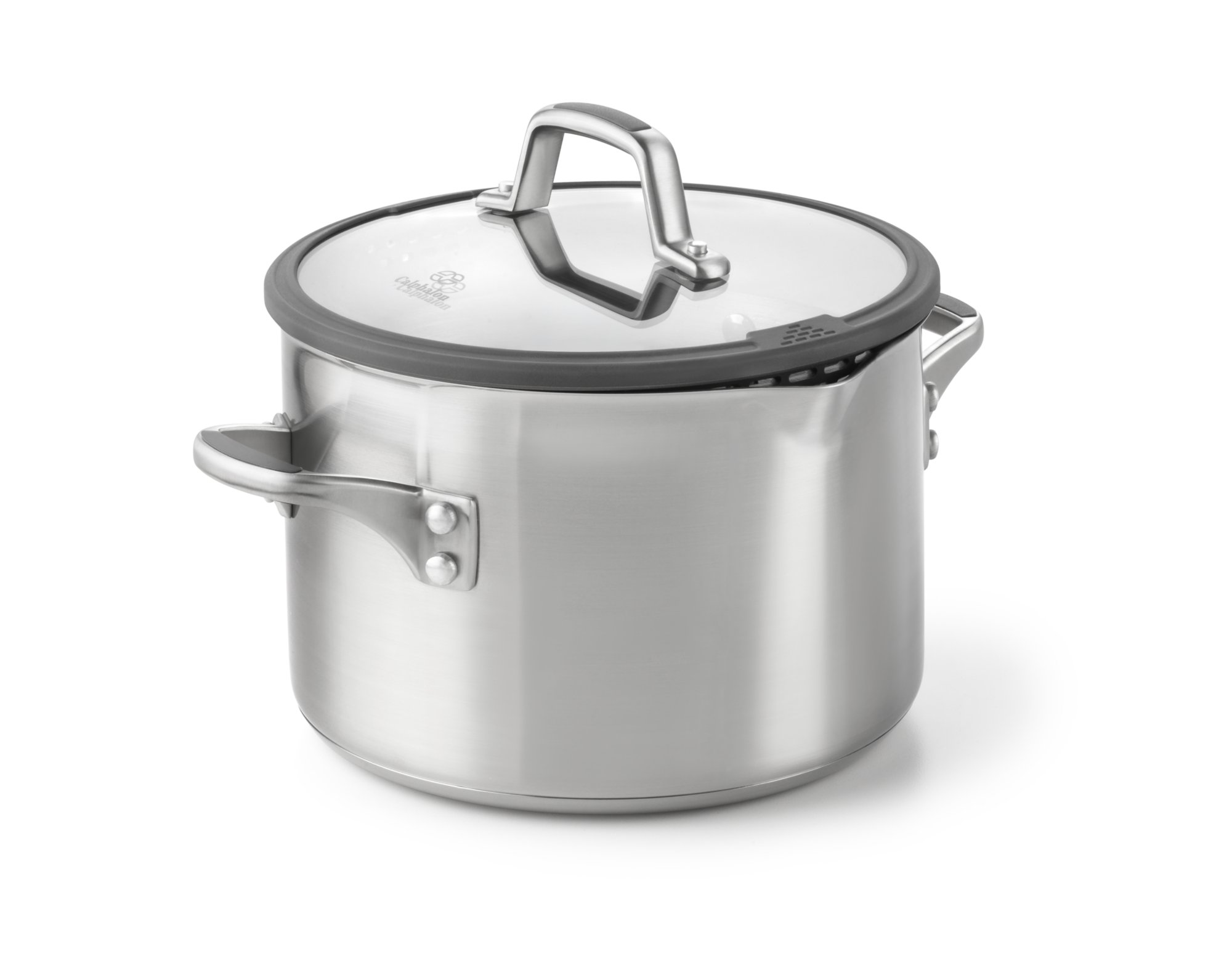 Simply Calphalon Easy System Stainless Steel 6-qt. Stock Pot with Cover