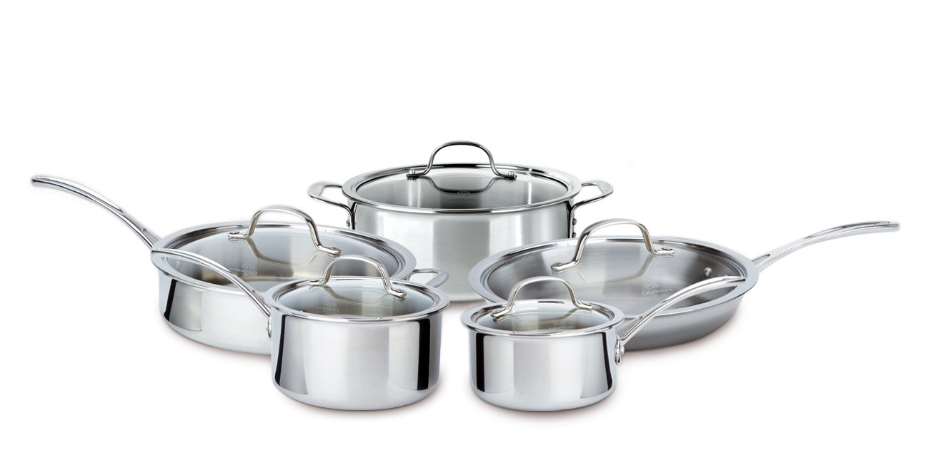 Calphalon Tri-Ply Stainless Steel 10-pc. Cookware Set