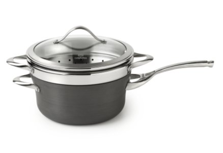 Calphalon Contemporary Nonstick 4.5-qt. Sauce Pan with Steamer Insert with Cover