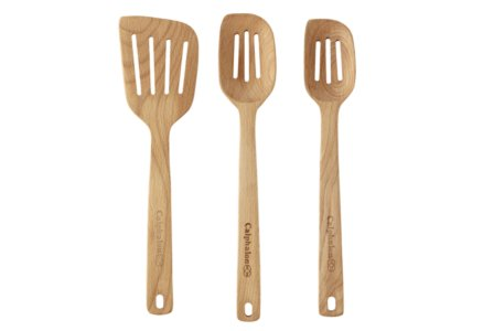 Cooking with Calphalon 3-pc. Slotted Wood Spoon & Turner Set