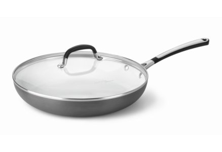 Simply Calphalon Ceramic Nonstick 12-in. Omelette Pan with Cover