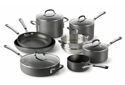 Simply Calphalon Nonstick 12-pc. Cookware Set