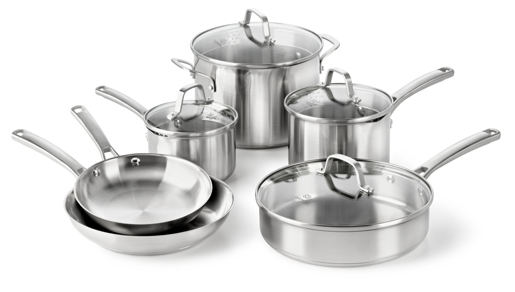 Calphalon Classic Stainless Steel 10-pc. Cookware Set