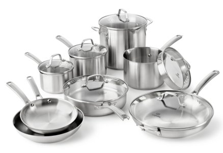 Calphalon Classic Stainless Steel 14-pc. Cookware Set