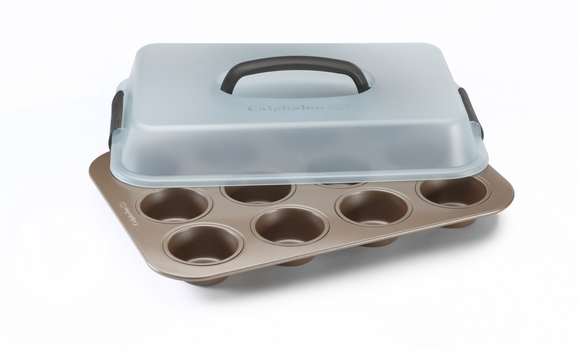 Simply Calphalon Nonstick Bakeware 12 cup Covered Cupcake Pan