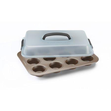 Simply Calphalon Nonstick Bakeware 12 Cup Covered Cupcake Pan
