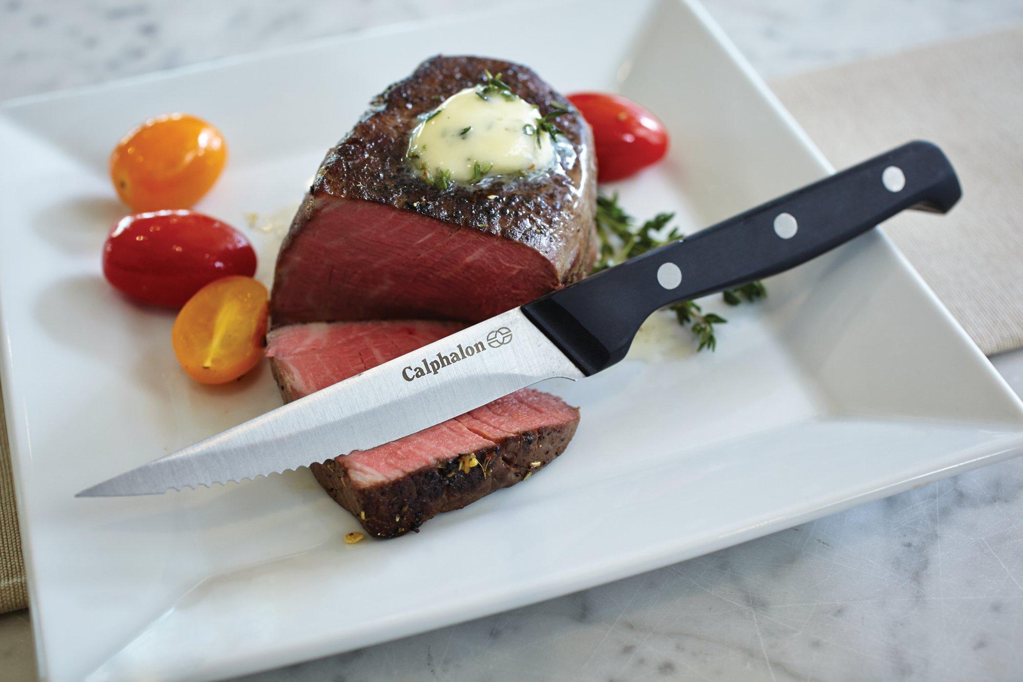 calphalon classic 8pc steak knife set calphalon classic 8 pc steak knife set