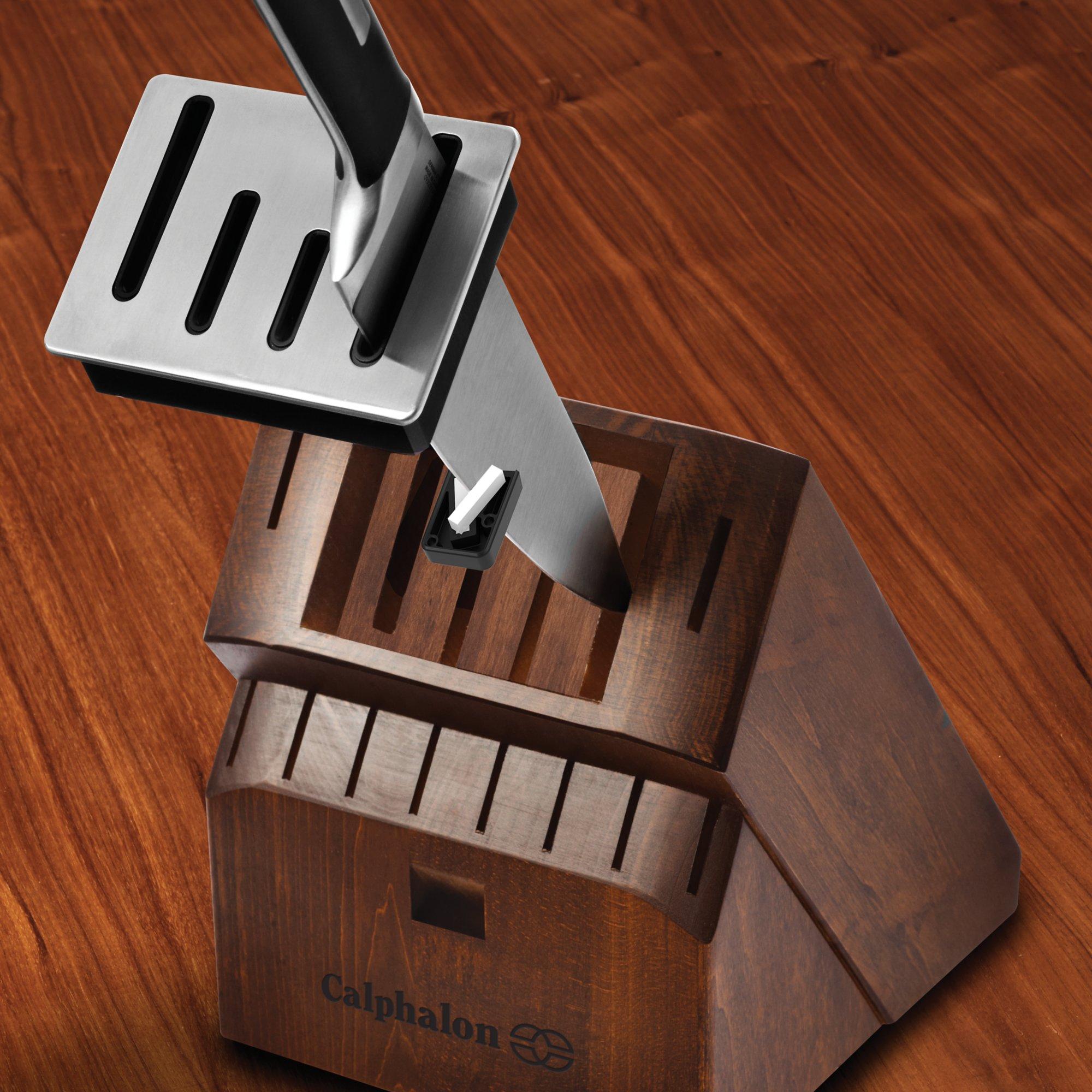 calphalon precision self sharpening 15 pc cutlery set