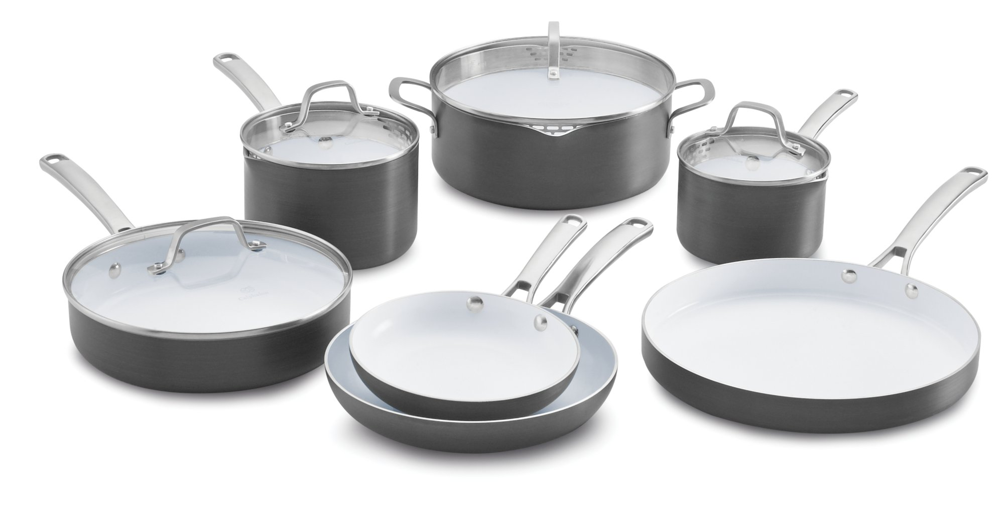calphalon classic ceramic nonstick 11pc cookware set