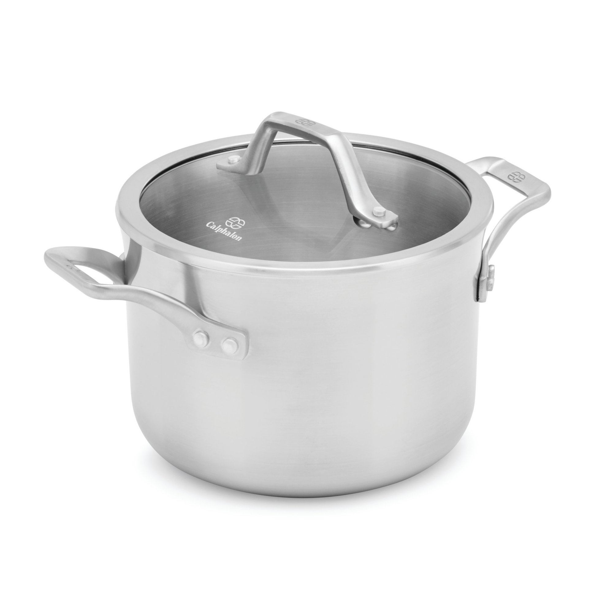 Calphalon Signature Stainless Steel Covered Soup Pot, 4 quart, Silver
