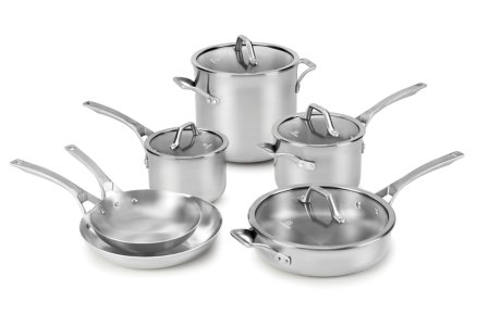 Calphalon Signature™ Stainless Steel 10-pc. Cookware Set