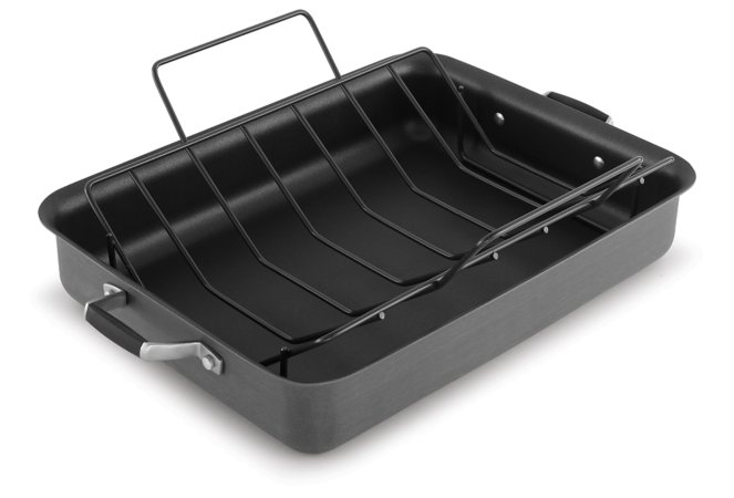 Select by Calphalon Hard-Anodized Nonstick 16-Inch Roaster With Rack