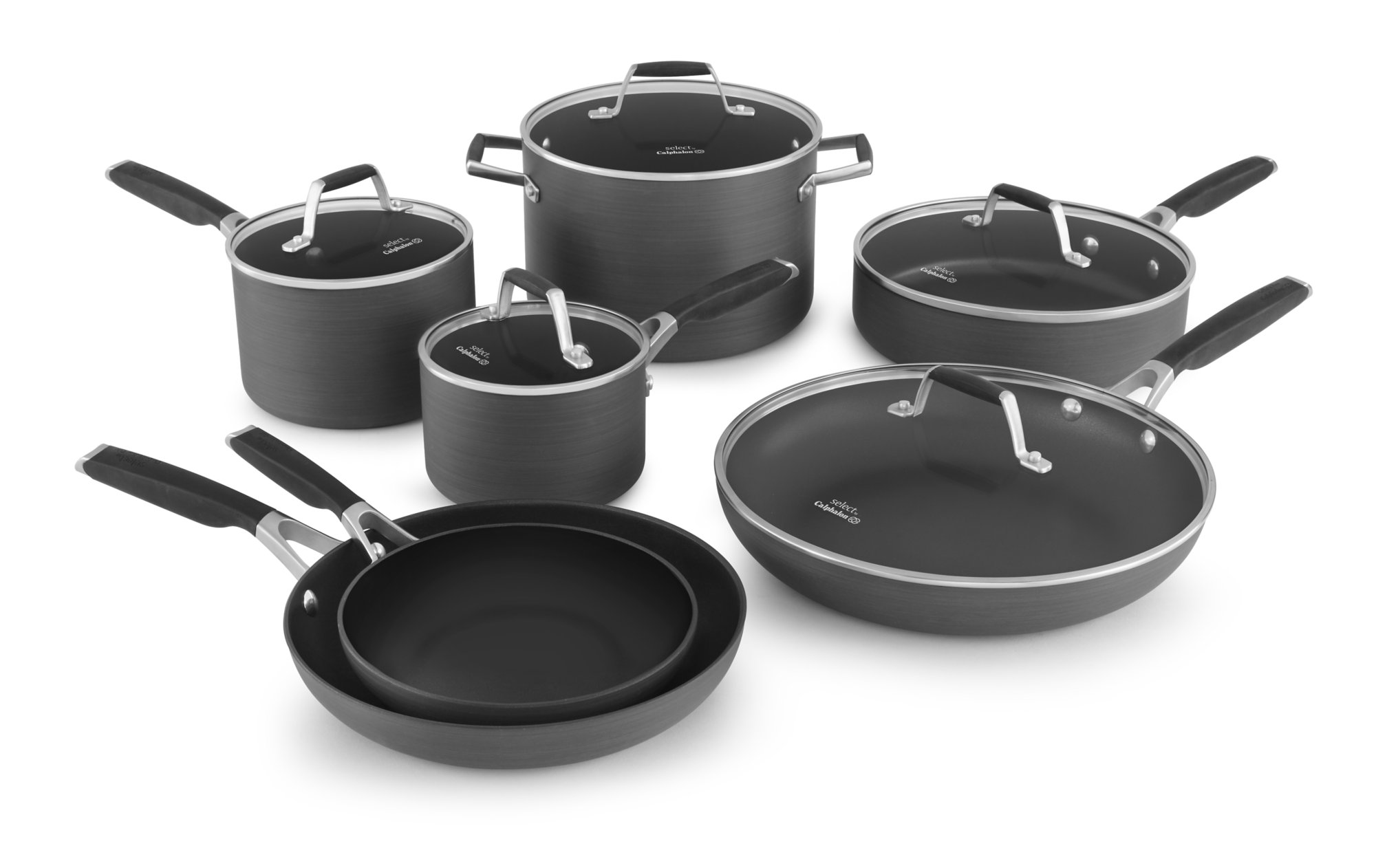 Select by Calphalon Hard-Anodized Nonstick 12-piece Cookware Set