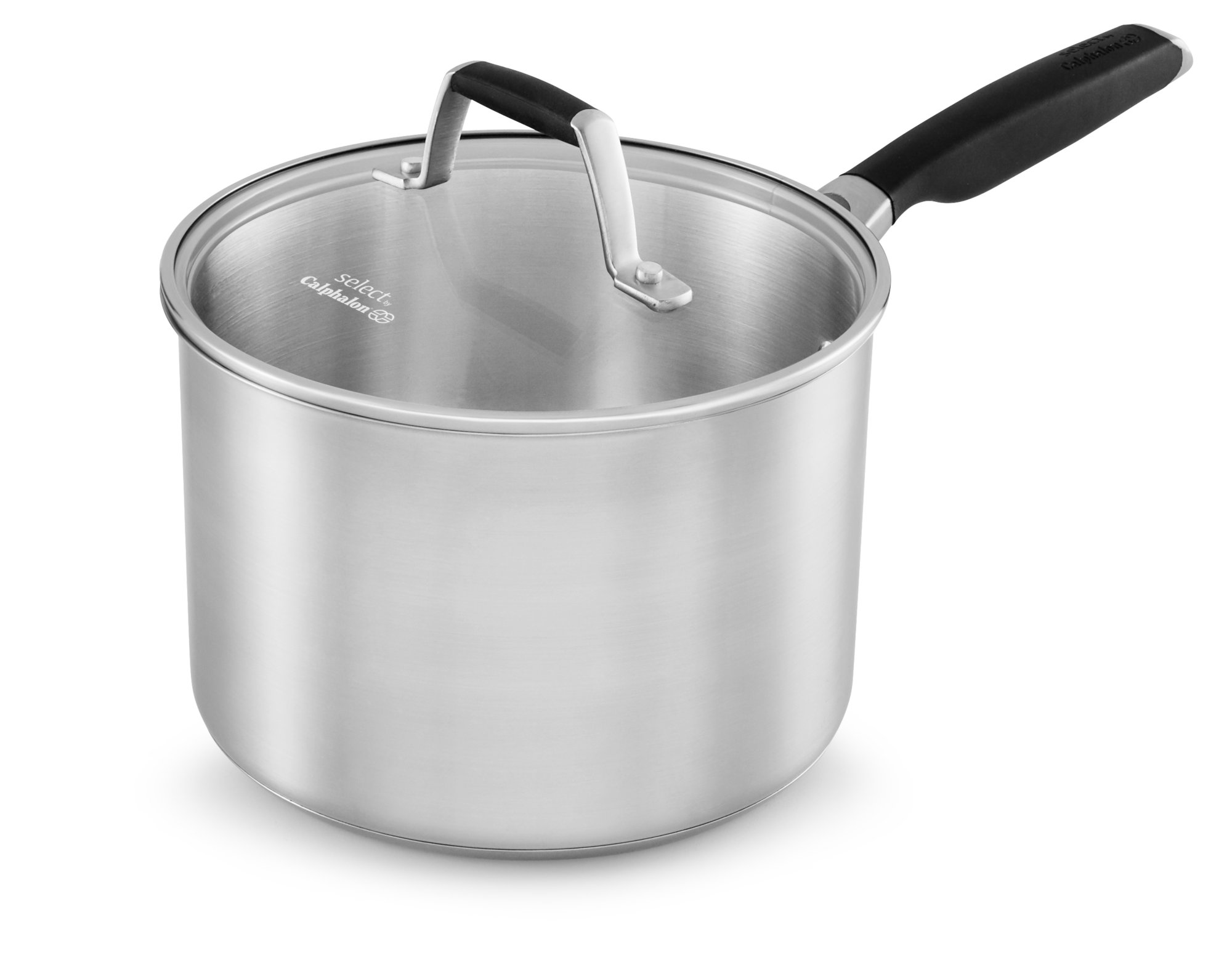 Select by Calphalon Stainless Steel 3.5-Quart Saucepan