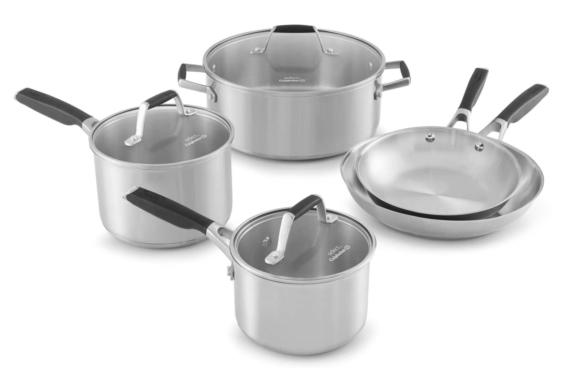Select by Calphalon Stainless Steel 8-piece Cookware Set