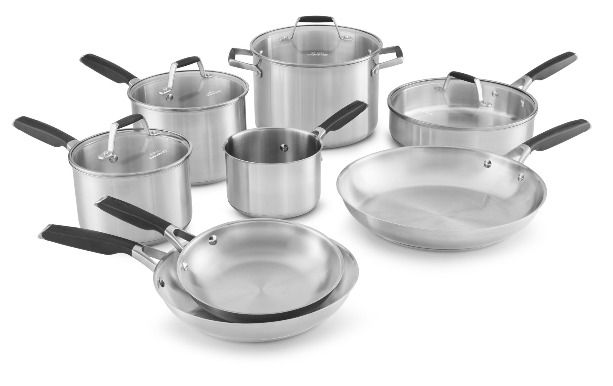 Select by Calphalon Stainless Steel 12-piece Cookware Set