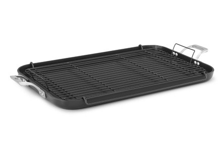 Calphalon Williams-Sonoma Elite Nonstick 20-In. Double Griddle with Roasting Rack