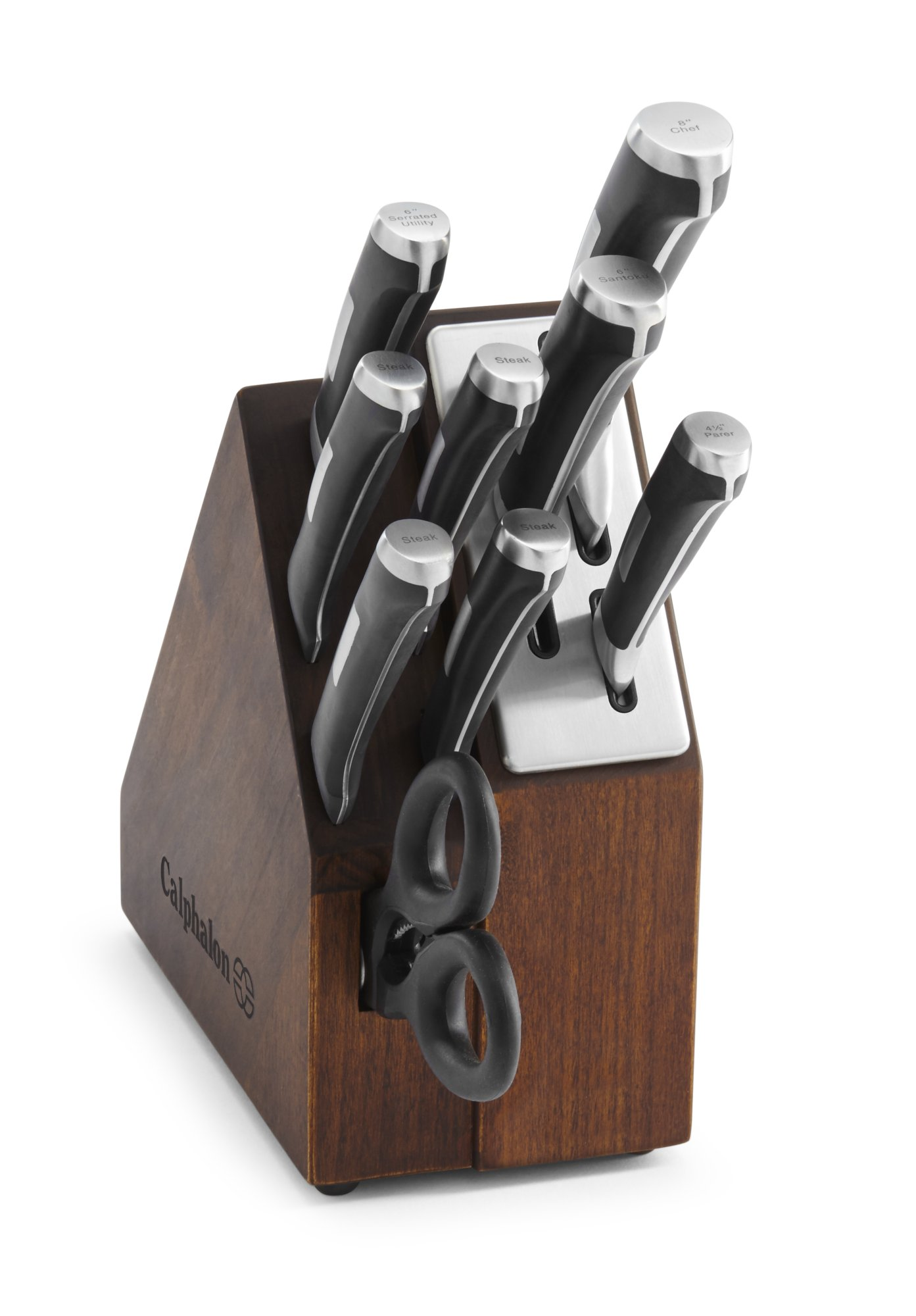 Calphalon Precision 10-Piece Space-saving Self-sharpening Knife Block Set