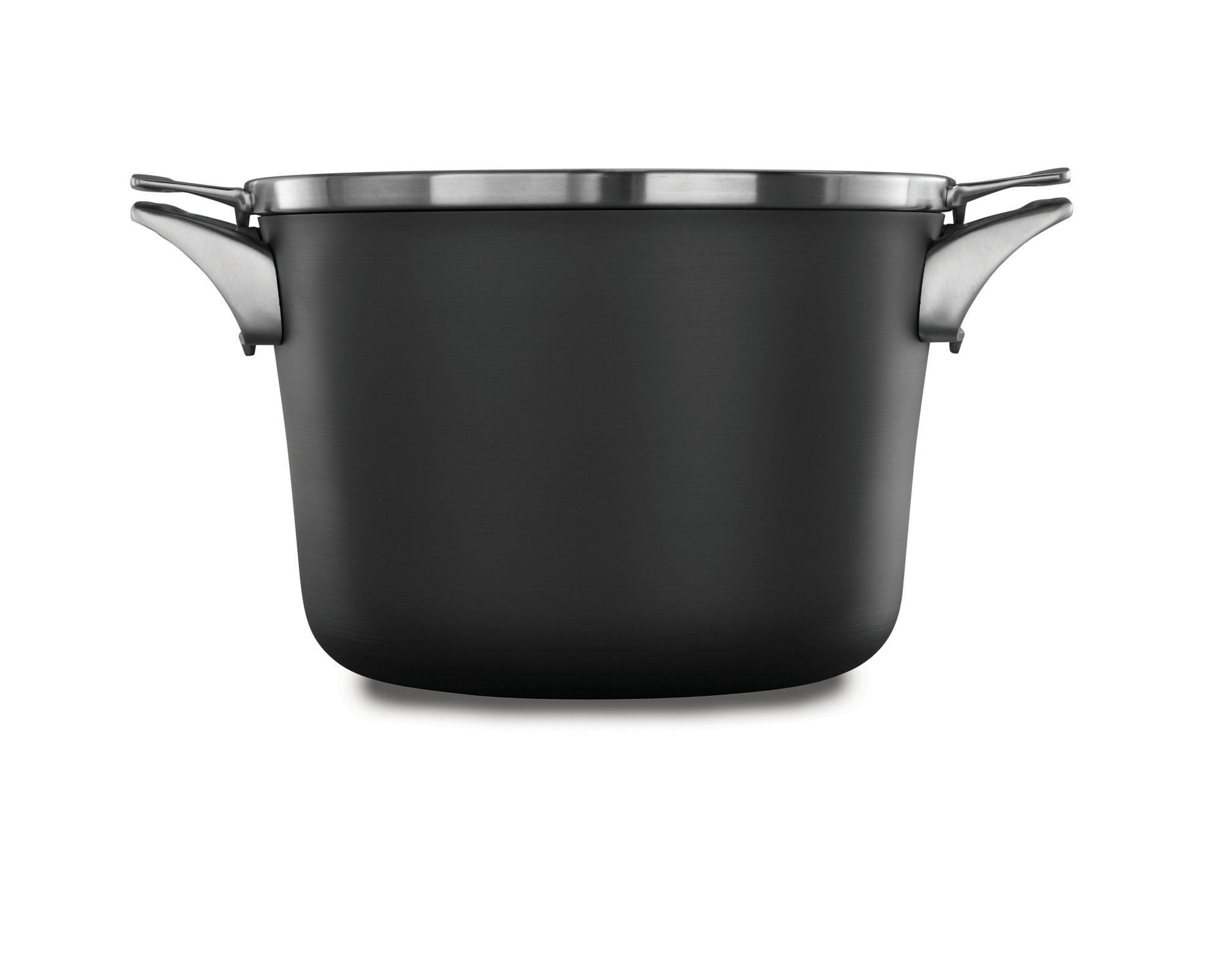 Calphalon Premier Space-Saving Hard-Anodized Nonstick Cookware, 8-Quart Stock Pot with Cover