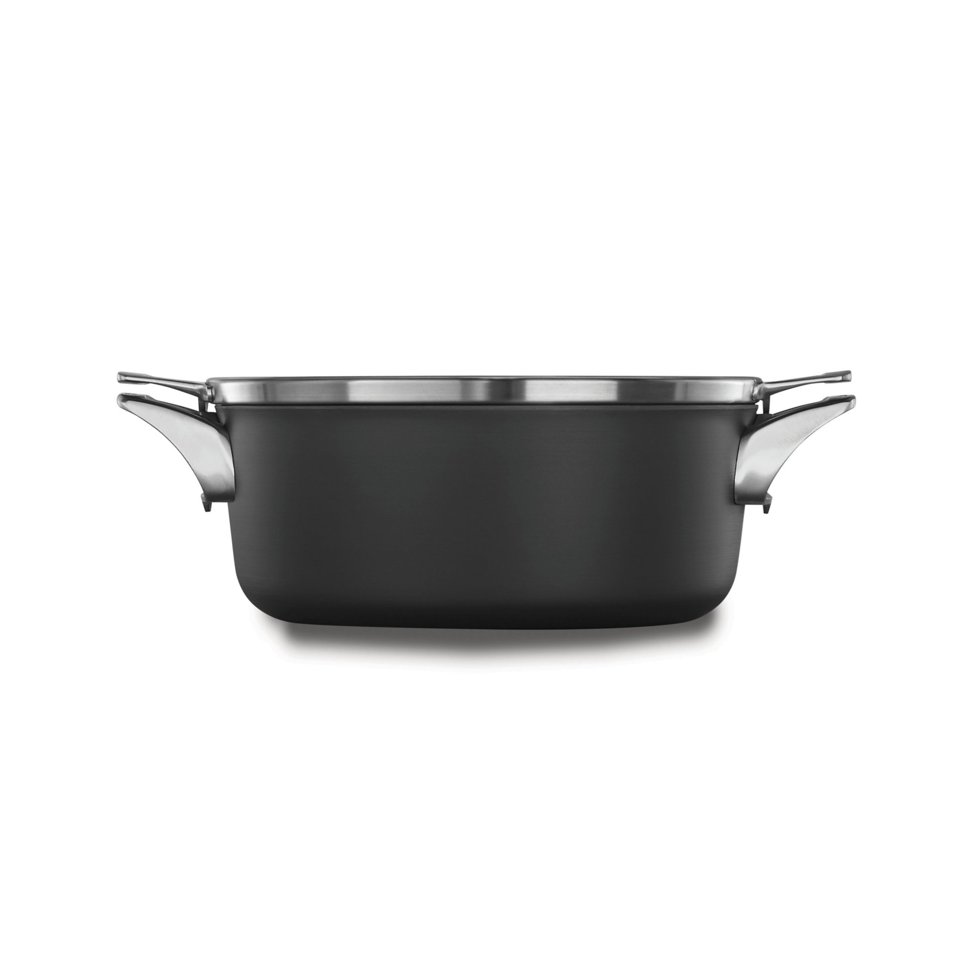 Calphalon Premier Space-Saving Hard-Anodized Nonstick Cookware, 5-Quart Dutch Oven with Cover