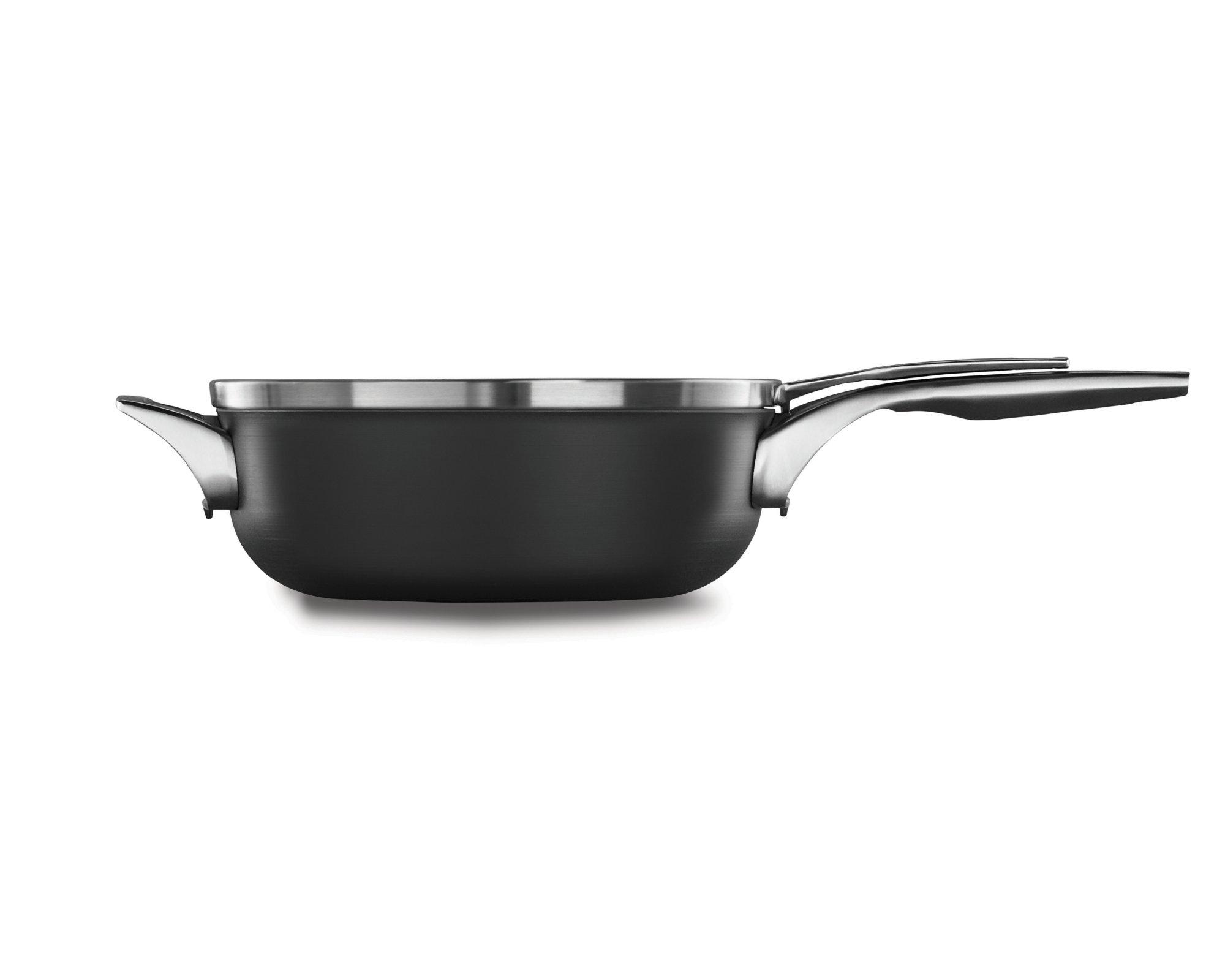 Calphalon Premier? Space Saving Hard Anodized Nonstick 4 qt. Chef's Pan with Cover