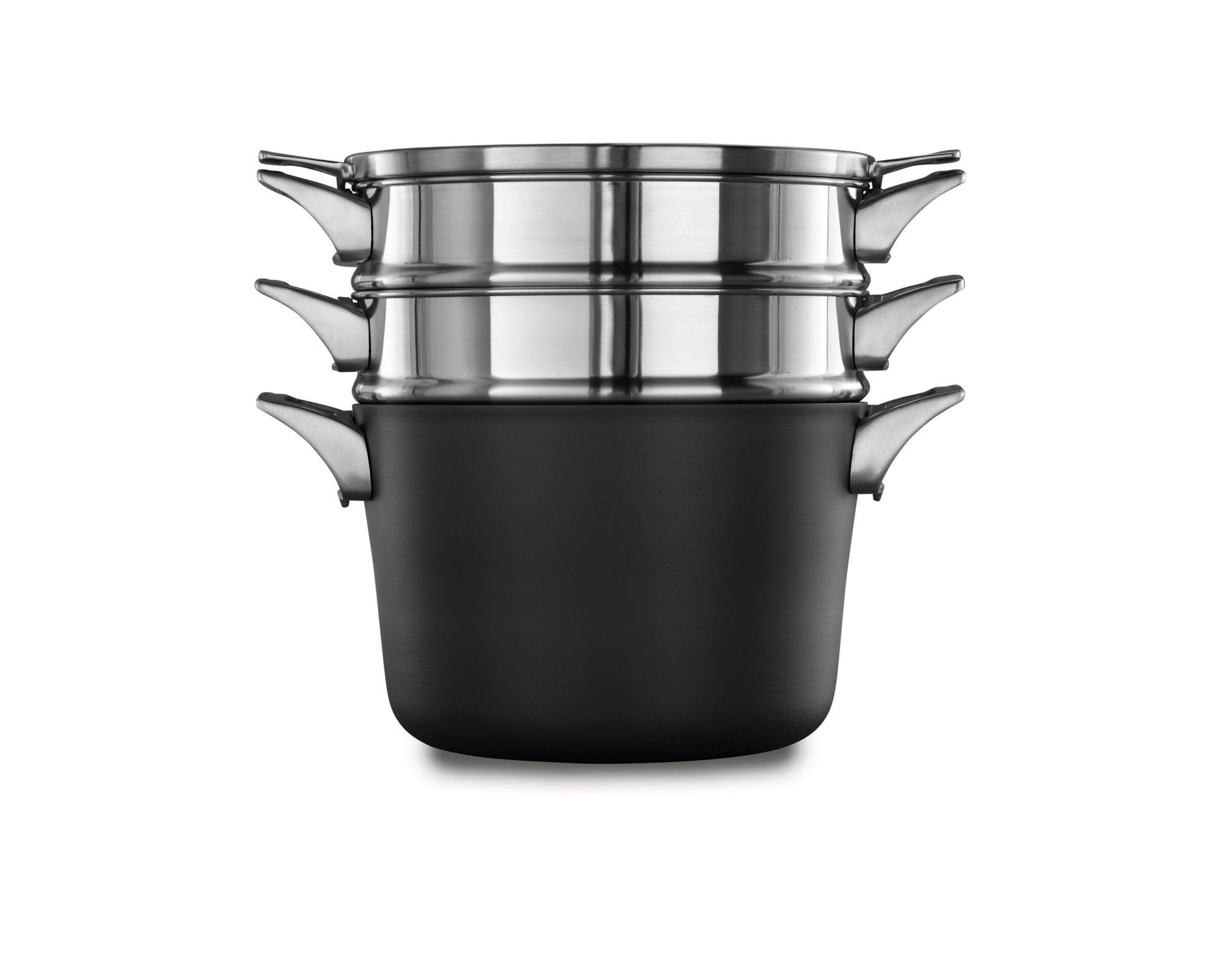Calphalon Premier Space-Saving Hard-Anodized Nonstick Cookware, 8-Quart Multi-Pot